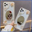 蘋果 iPhone12 iPhone11 12mini 12Pro Max SE2 XS IX XR i8+ i7 i6 花鏡珍珠 手機殼 水鑽殼 訂製