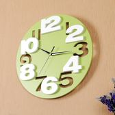 掛鐘 鐘錶掛鐘客廳時尚創意3D立體數字靜音錶兒童房現代簡約時鐘 mks阿薩布魯