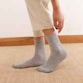 純棉中筒襪夏季薄款潮長筒黑色白學生防臭純色軍訓全棉男長襪子女『快速出貨』