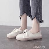 新品娃娃鞋春秋小皮鞋女文藝復古圓頭甜美蝴蝶結軟妹森女單鞋潮 芊墨左岸