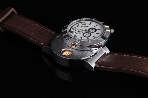【G4001】 防風 電弧打火機 防風打火機 手錶 運動手錶 充電 打火機 電子點煙器  點菸器 非防水