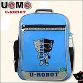 【UnMe機器人】直率雙層系後背書包 藍色 3233-BU  (OS小舖)