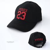 棒球帽 PYREX 23號字樣帽子 出門必備好搭配單品 鴨舌帽 遮陽防曬 柒彩年代【NH266】