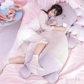 河馬抱枕公仔毛絨玩具可愛女生長條睡覺靠枕床上大號禮物 LN1467 【Sweet家居】