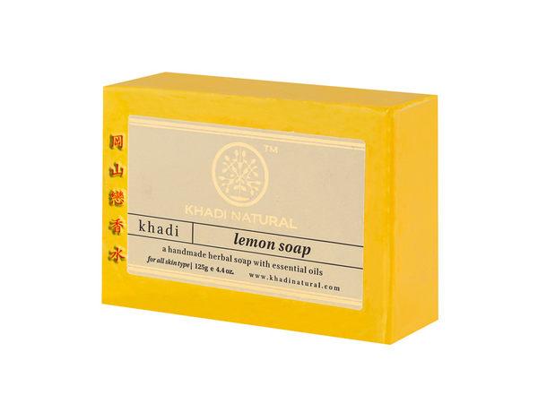 岡山戀香水~印度 Khadi 草本檸檬手工精油香皂125g~優惠價:65元