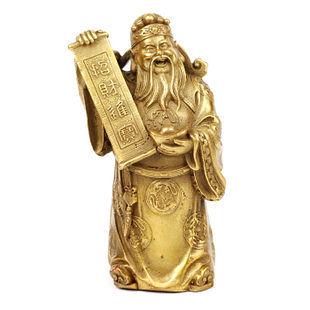 純銅文財神爺擺件