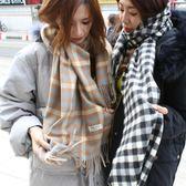 梨卡 - 韓國空運韓國製超美秋冬必備格紋格子保暖圍巾/2色W06