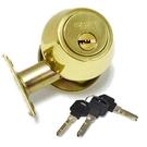 【6365】高級輔助鎖10110F 金色輔助鎖 補助鎖 門鎖 卡巴鎖匙★EZGO商城★