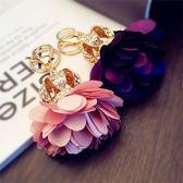 鑰匙扣 女款鑲鉆可愛花球包包掛飾