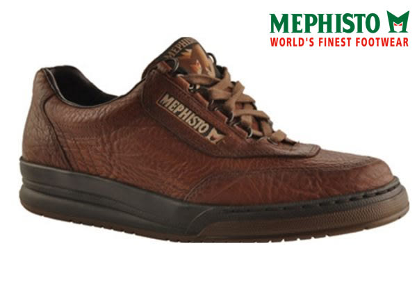 【Mephisto促銷3折】Mephisto 綁帶皮革休閒鞋 深咖啡