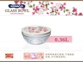 KOMAX『韓國高美斯59543 扶桑花強化玻璃保鮮盒』0.36L《Mstore》