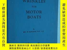 二手書博民逛書店NAVIGATION罕見WRINKLES FOR MOTOR BOATS [E----93]Y195160