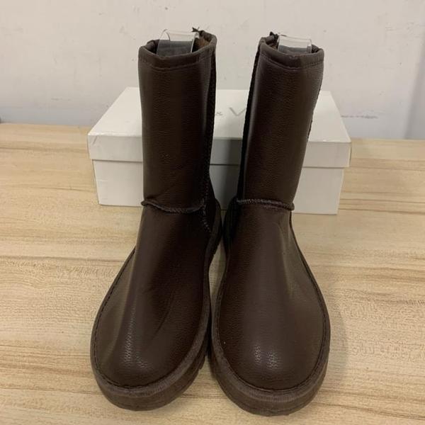 百搭時尚內刷毛雪靴雪地靴短靴(23.5號/777-10604)