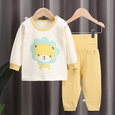 寶寶秋衣套裝春秋純棉嬰兒內衣兒童全棉睡衣男女打底衫高腰護肚褲 童趣屋 交換禮物
