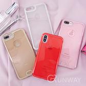 【R】閃粉邊框 透明雙層 簡約質感 手機殼 蘋果 iPhone X 7/8 plus 防摔 全包邊軟殼