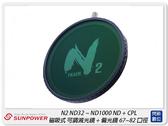 Sunpower N2 ND32~ND1000 ND+CPL 磁吸式 可調減光鏡+偏光鏡 67-82mm(公司貨)
