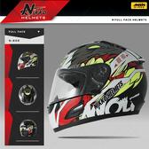 [安信騎士] Nikko NK-805 NK805 #6 黑紅 全罩 安全帽 內襯全可拆 免運 送好禮二選一
