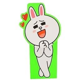 【金玉堂文具】LINE FRIENDS 站立便條座 愉悅的兔兔 N次貼 (62033) 便條紙 便利貼