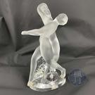 BRAND楓月 LALIQUE 萊儷 水晶 雙人裸人 舞動 擺飾 居家擺設 藝術品 收藏品