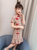 兒童旗袍 女童夏裝連身裙2021新款洋氣兒童旗袍女孩夏季漢服中國風公主裙子 嬡孕哺 免運