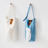 日系帆布懸掛式衛生紙掛袋 面紙掛袋