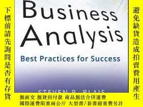 二手書博民逛書店Business罕見Analysis: Best Practices for SuccessY410016 S