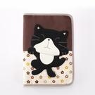 黑貓咪媽媽手冊/萬用袋/收納袋/拼布包包