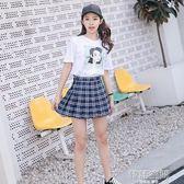 短裙春女ulzzang格子百褶裙2018新款半身裙高腰chica字裙夏季裙子3/5