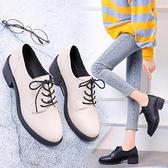 英倫風小皮鞋女2021夏季新款薄款百搭粗跟高跟jk鞋子學生黑色單鞋 童趣屋 交換禮物