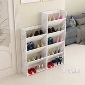 鞋架簡易鞋架家用多層鞋櫃客廳簡約歐式雕花防塵經濟型宿舍組裝置物架xw