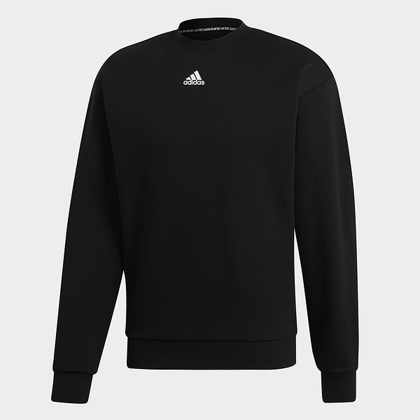 Adidas MUST HAVES 男款黑色長袖上衣-NO.DX7654