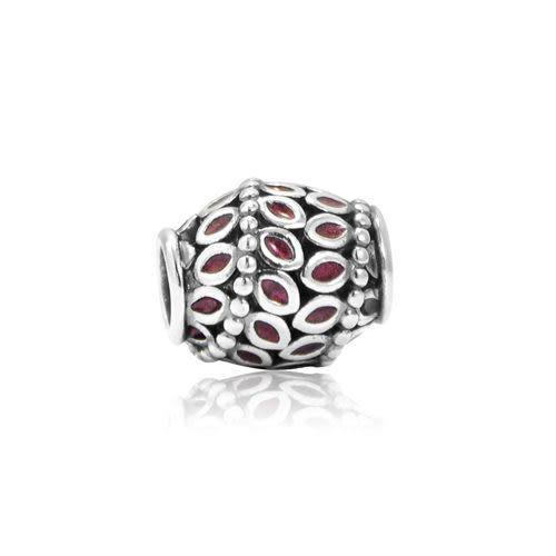 Pandora 潘朵拉丹麥時尚飾品串珠 迷人紫紅色常春藤 925純銀 串珠 墜飾 手鍊手環 情人 禮物 送禮