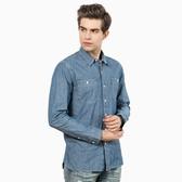 Levis 牛仔襯衫 男裝 / Worker Shirt 方形休閒雙口袋 / 簡約素面