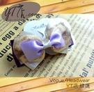 【YT店髮飾】紫色迷情緞帶蝴蝶結髮夾/髮飾/頭飾/彈簧夾(G027)
