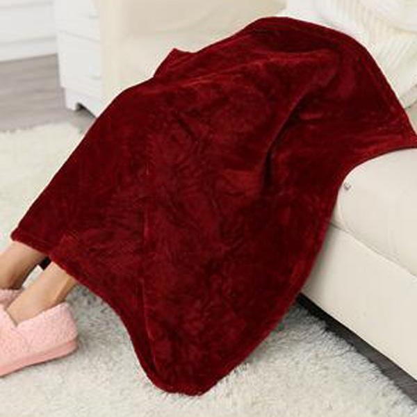 【BlueCat】純色保暖法蘭絨毛毯 懶人毯 寵物毯 嬰兒蓋毯(50*70cm)