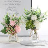 假花 ins北歐小清新絹花假花仿真花客廳花瓶裝飾品擺件餐桌花藝套裝設 美物居家館
