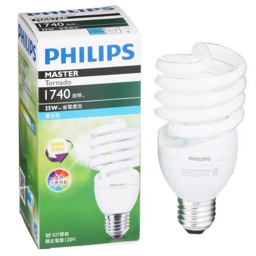 Philips 飛利浦 T2 螺旋省電燈泡25W白光【愛買】