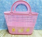 【震撼精品百貨】Hello Kitty 凱蒂貓~塑膠提籃-粉熱帶