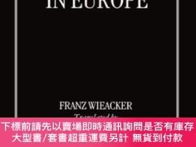 二手書博民逛書店A罕見History Of Private Law In EuropeY464532 Franz Wieack
