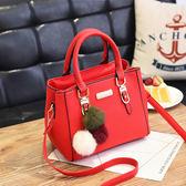 紅色包包女2017新款結婚包手提包新娘包韓版單肩斜挎包休閒殺手包 優帛良衣