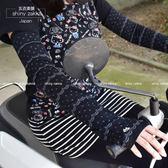 防曬長袖套-日本抗UV 舒適透氣 吸濕排汗 貓咪點點袖套-黑色-玄衣美舖