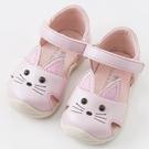 學步涼鞋 Dave Bella 小童 大童 魔鬼氈學步涼鞋 學布鞋 鞋子 休閒鞋 - 粉紅貓咪  DB6764