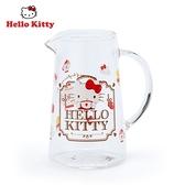 日本限定 三麗鷗 HELLO KITTY 凱蒂貓 冬季午茶時間 玻璃牛奶杯 玻璃小壺 75ml