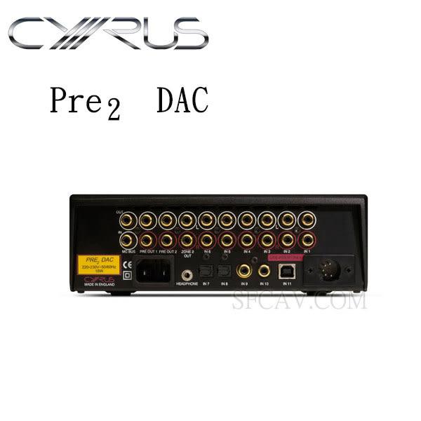 【勝豐群音響竹北】CYRUS  Pre2 DAC  立體聲前級擴大機 兼 24bit/192kHz數位類比轉換器