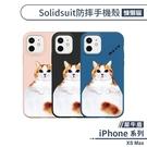 【犀牛盾】iPhone XS Max Solidsuit防摔殼(慵懶貓) 手機殼 保護殼 保護套 軍規防摔