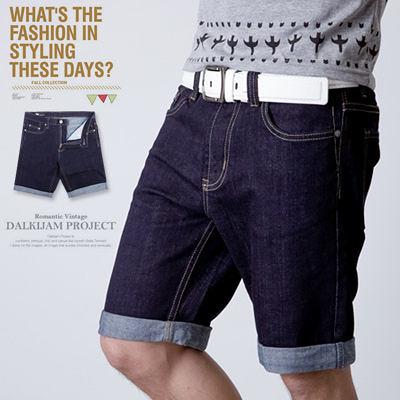 柒零年代【N8712J】夏日都會休閒褲管反摺原色單寧牛仔短褲(LE-W503)vigor