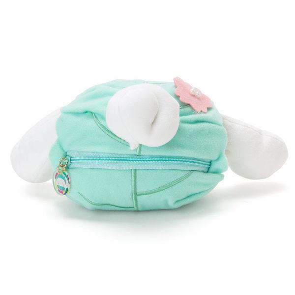 Hamee 日本正版 三麗鷗 春日和菓子 超柔軟 絨毛娃娃 零錢包 小物收納包 (大耳狗/柏餅) 409031