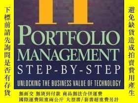 二手書博民逛書店IT罕見(Information Technology) Portfolio Management Step-by