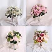 婚紗攝影道具手捧花影樓拍照道具婚禮結婚伴娘團仿真新娘手捧花