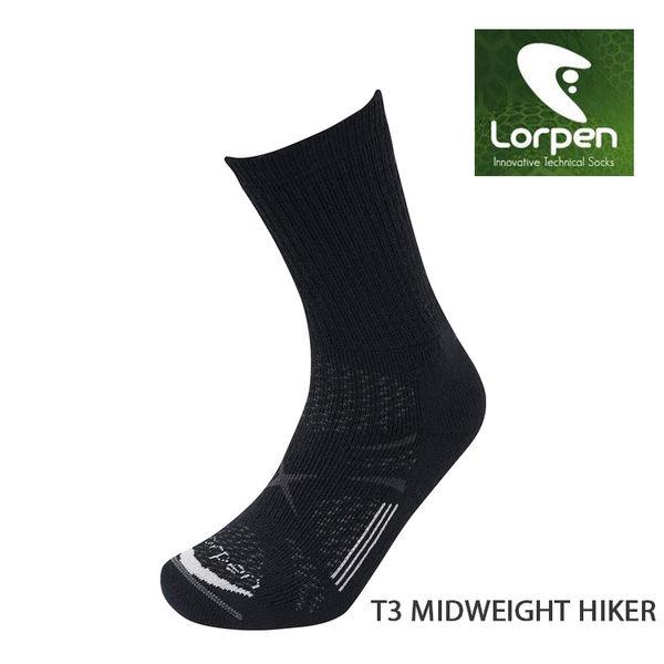 Lorpen T3 Primaloft美麗諾羊毛健行襪T3MM(III) / 城市綠洲(保暖、吸汗、快乾、羊毛、西班牙)